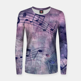 Miniaturka Abstract music 18B Women sweater, Live Heroes