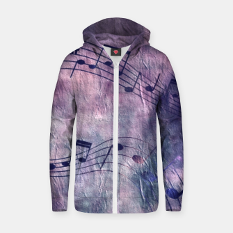 Miniaturka Abstract music 18B Zip up hoodie, Live Heroes