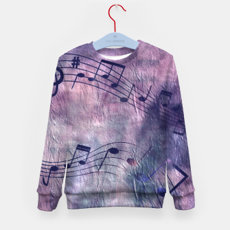 Miniaturka Abstract music 18B Kid's sweater, Live Heroes