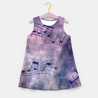 Miniaturka Abstract music 18B Girl's summer dress, Live Heroes