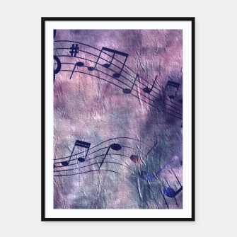 Miniaturka Abstract music 18B Framed poster, Live Heroes
