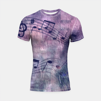 Miniaturka Abstract music 18B Shortsleeve rashguard, Live Heroes