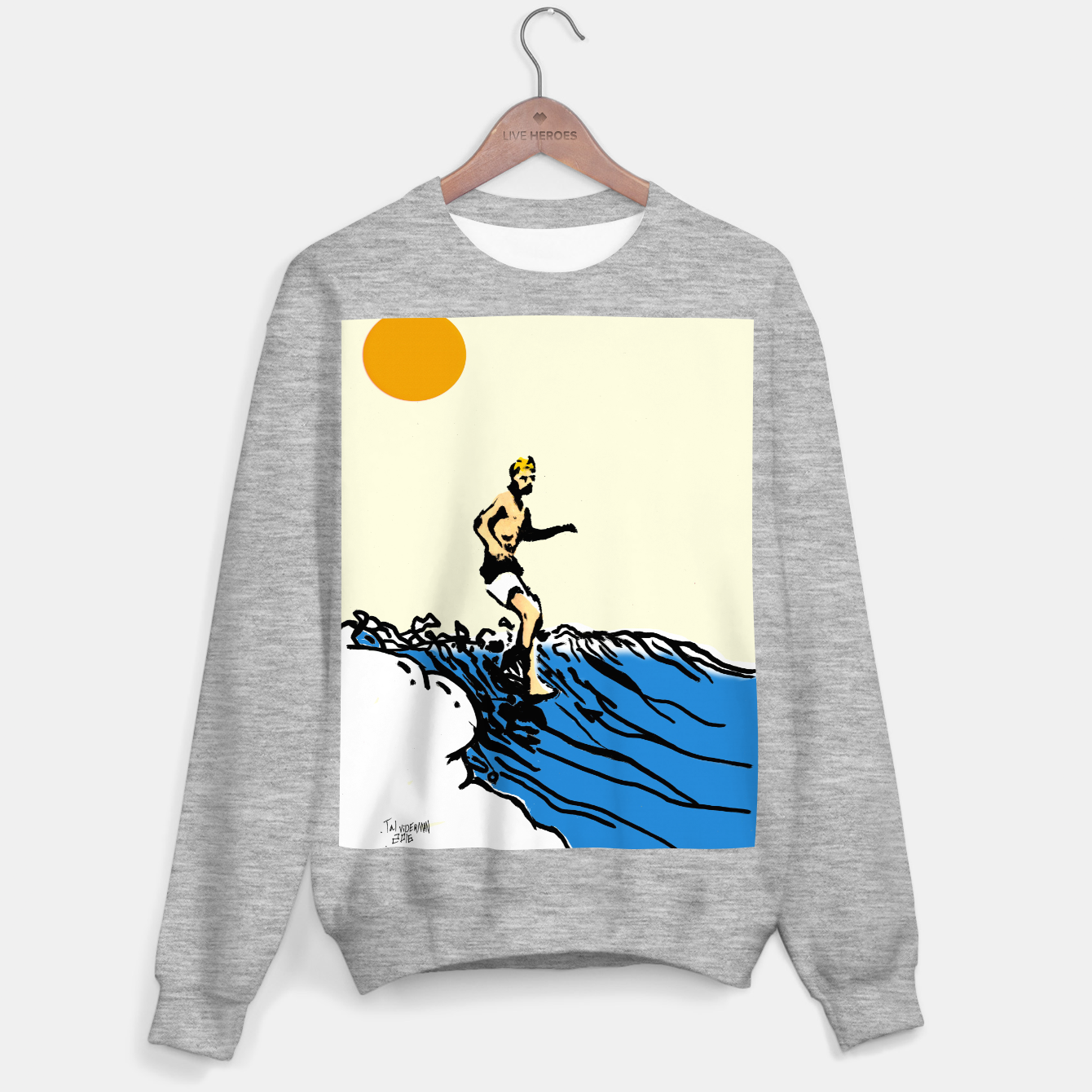 Image of Surfer jack Sweater regular - Live Heroes