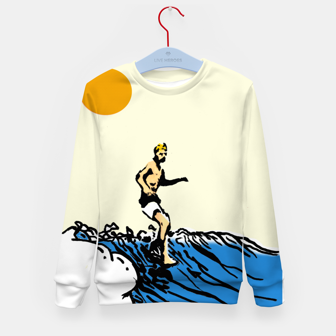 Image of Surfer jack Kid's sweater - Live Heroes