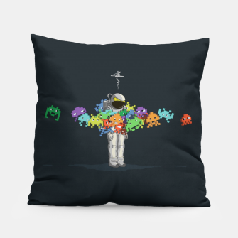 Thumbnail image of Personal Space Invaders Pillow, Live Heroes