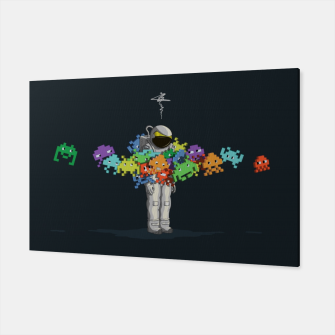 Thumbnail image of Personal Space Invaders Canvas, Live Heroes