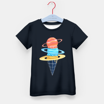 Thumbnail image of Space-Time Cone-Tinuum Kid's t-shirt, Live Heroes