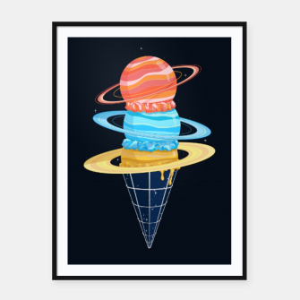 Miniatur Space-Time Cone-Tinuum Framed poster, Live Heroes