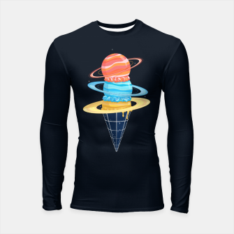 Thumbnail image of Space-Time Cone-Tinuum Longsleeve rashguard , Live Heroes