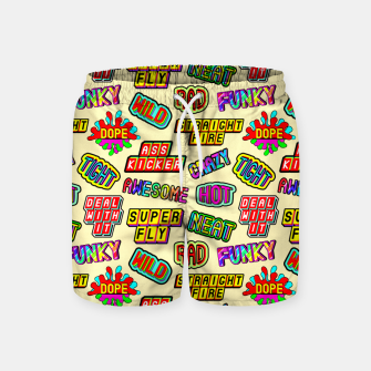 Miniaturka Funky pattern #09 (dope, straight fire, funky, hot, deal with it, crazy, awesome, etc) Swim Shorts, Live Heroes
