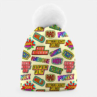 Miniaturka Funky pattern #09 (dope, straight fire, funky, hot, deal with it, crazy, awesome, etc) Beanie, Live Heroes