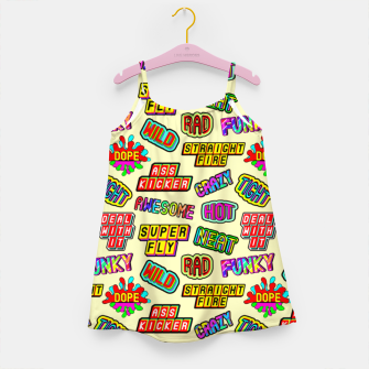 Miniaturka Funky pattern #09 (dope, straight fire, funky, hot, deal with it, crazy, awesome, etc) Girl's dress, Live Heroes