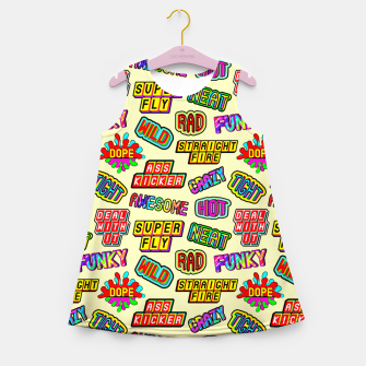 Miniaturka Funky pattern #09 (dope, straight fire, funky, hot, deal with it, crazy, awesome, etc) Girl's summer dress, Live Heroes