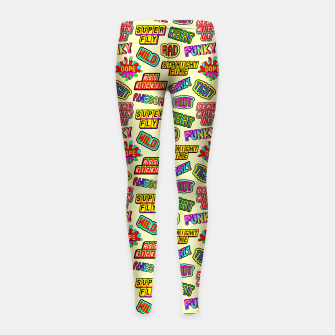 Miniaturka Funky pattern #09 (dope, straight fire, funky, hot, deal with it, crazy, awesome, etc) Girl's leggings, Live Heroes