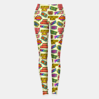Miniaturka Funky pattern #09 (dope, straight fire, funky, hot, deal with it, crazy, awesome, etc) Leggings, Live Heroes