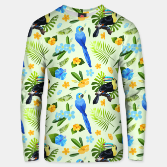Thumbnail image of Flower Tucan Parrot Unisex sweater, Live Heroes