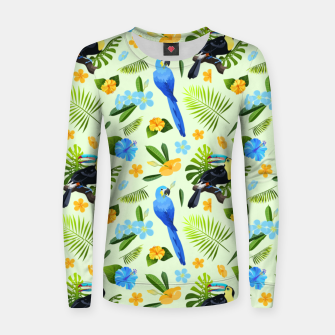 Thumbnail image of Flower Tucan Parrot Women sweater, Live Heroes