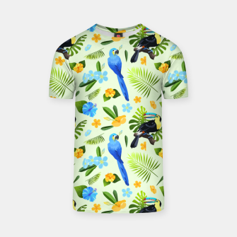 Thumbnail image of Flower Tucan Parrot T-shirt, Live Heroes