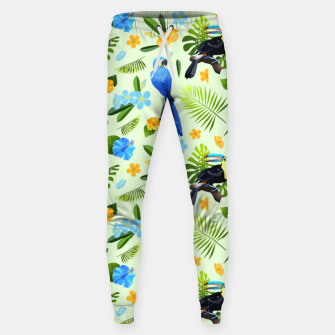 Thumbnail image of Flower Tucan Parrot Sweatpants, Live Heroes
