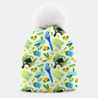 Thumbnail image of Flower Tucan Parrot Beanie, Live Heroes