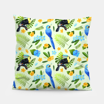 Thumbnail image of Flower Tucan Parrot Pillow, Live Heroes