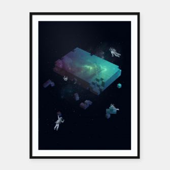 Thumbnail image of Constructing the Cosmos Framed poster, Live Heroes