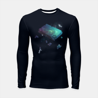 Thumbnail image of Constructing the Cosmos Longsleeve rashguard , Live Heroes