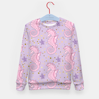Thumbnail image of Sea Horses Pattern Kid's sweater, Live Heroes