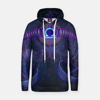 Thumbnail image of Libra Zodiac Art Galaxy Air Element Hoodie, Live Heroes