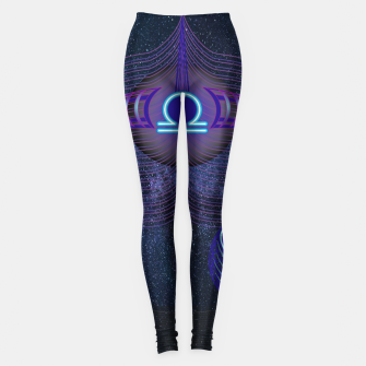 Thumbnail image of Libra Zodiac Art Galaxy Air Element Leggings, Live Heroes