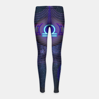 Thumbnail image of Libra Zodiac Art Galaxy Air Element Girl's leggings, Live Heroes