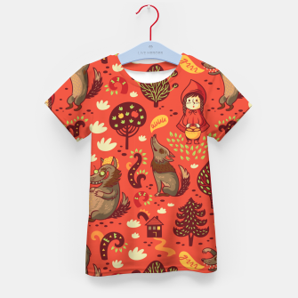 Thumbnail image of Little Red Riding Hood Kid's t-shirt, Live Heroes