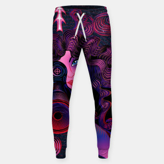 Thumbnail image of Sagittarius Zodiac Art Galaxy Fire Element Sweatpants, Live Heroes