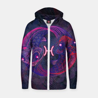 Pisces Zodiac Art Galaxy Water Element Zip up hoodie thumbnail image