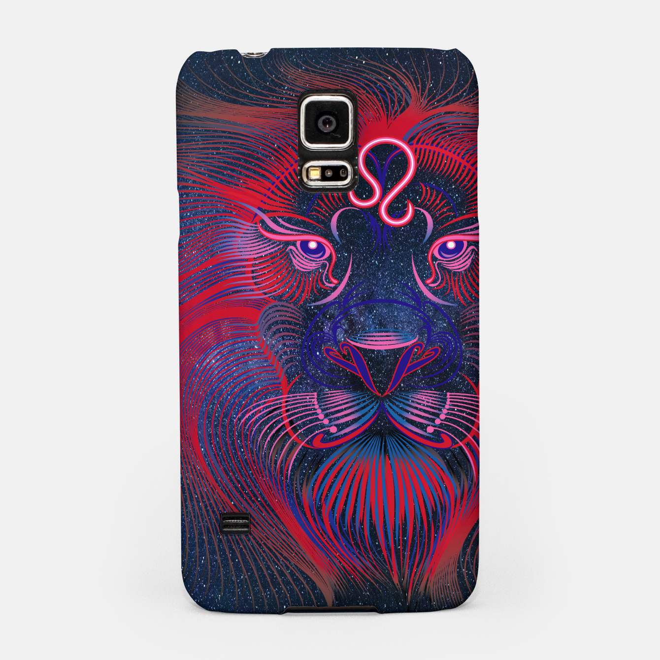 Image of Leo Zodiac Art Galaxy Fire Element Samsung Case - Live Heroes