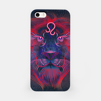 Leo Zodiac Art Galaxy Fire Element iPhone Case thumbnail image
