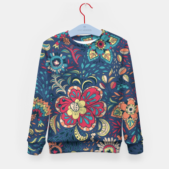 Thumbnail image of Retro Floral Pattern Kid's sweater, Live Heroes