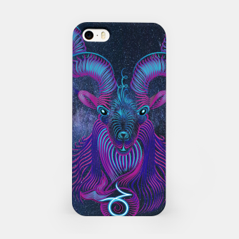 Capricorn Zodiac Art Galaxy Earth Element iPhone Case thumbnail image