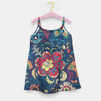 Thumbnail image of Retro Floral Pattern Girl's dress, Live Heroes