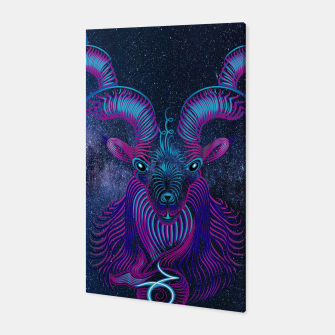 Capricorn Zodiac Art Galaxy Earth Element Canvas thumbnail image