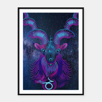Thumbnail image of Capricorn Zodiac Art Galaxy Earth Element Framed poster, Live Heroes