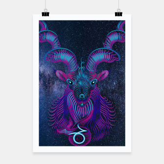 Thumbnail image of Capricorn Zodiac Art Galaxy Earth Element Poster, Live Heroes