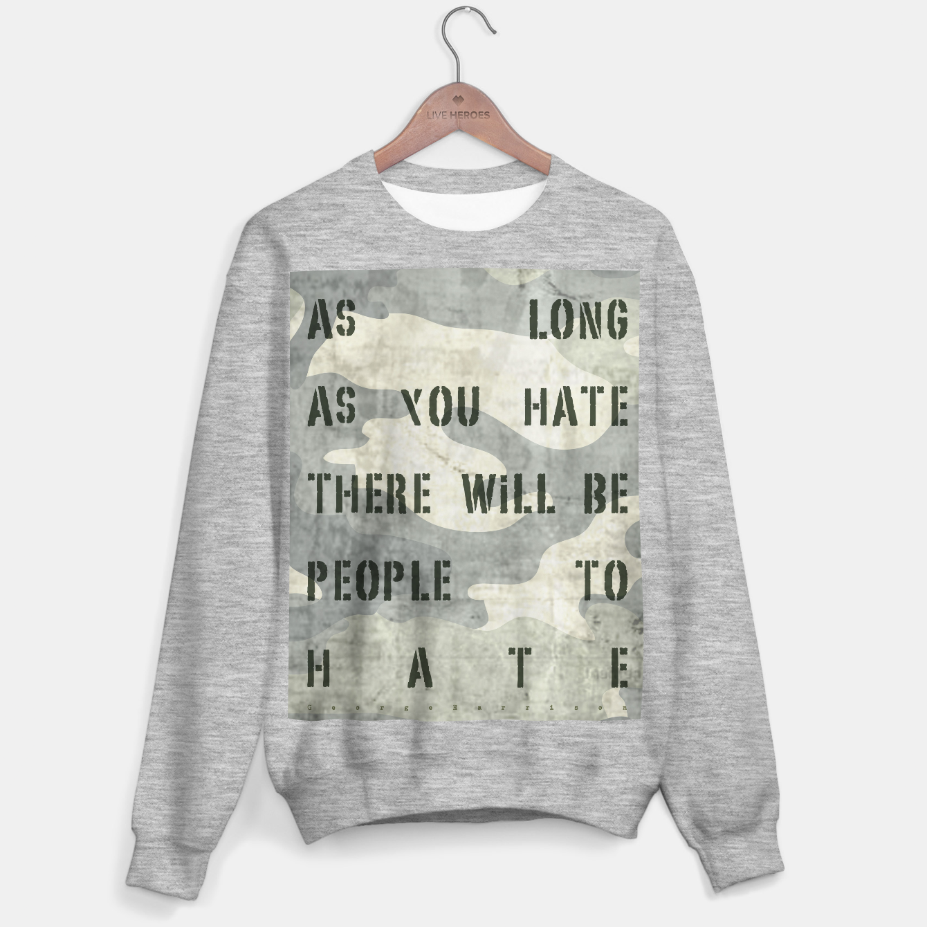 Foto Quote - no more hate Sweater regular - Live Heroes