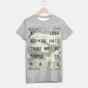Quote - no more hate T-shirt regular Bild der Miniatur