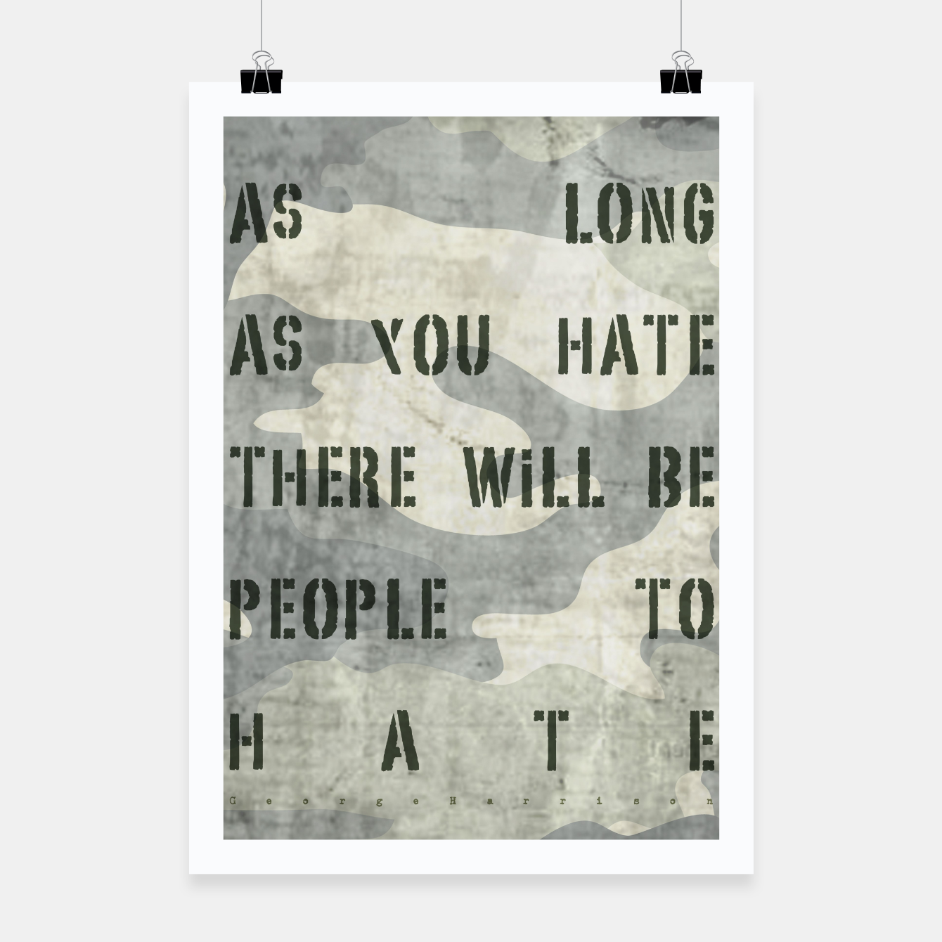 Foto Quote - no more hate Poster - Live Heroes