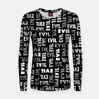 Miniatur Evil All Over Women sweater, Live Heroes