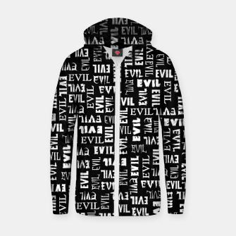 Thumbnail image of Evil All Over Zip up hoodie, Live Heroes