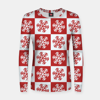 Thumbnail image of Snow flakes checkered  Women sweater, Live Heroes
