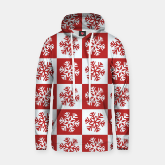 Thumbnail image of Snow flakes checkered  Hoodie, Live Heroes