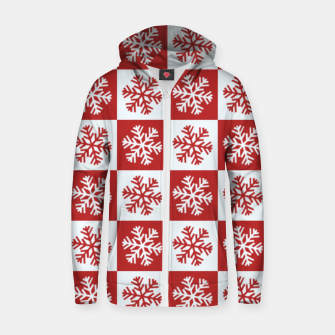Thumbnail image of Snow flakes checkered  Zip up hoodie, Live Heroes